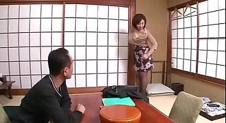 Two japanese mature couple on a trip