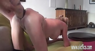 Dual fisting and huge dildo fucked amateur